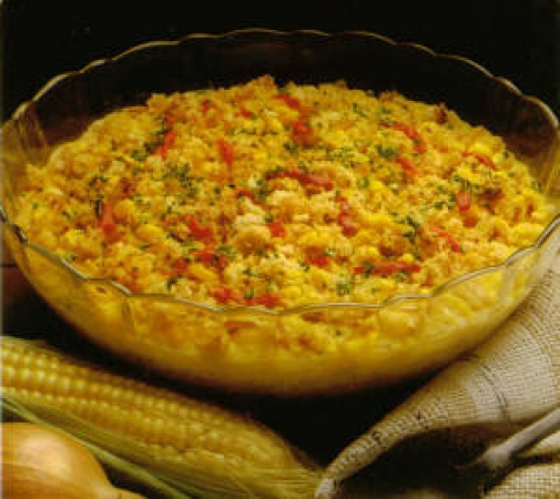 Easy Herbed Corn Pudding